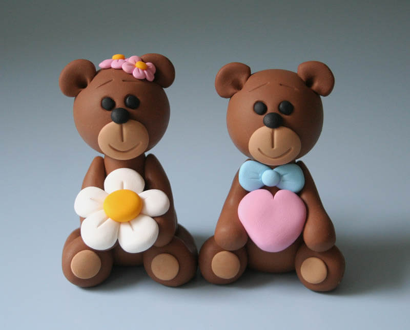 kerajinan clay teddy bear