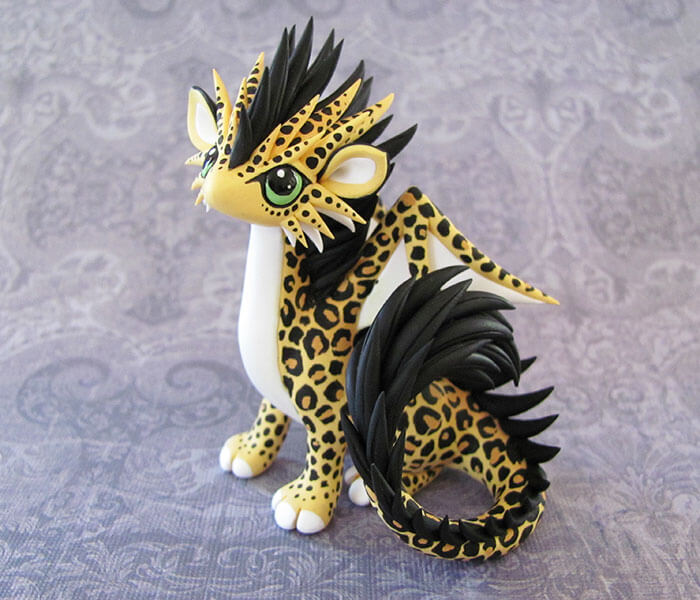kerajinan clay lepard dragon