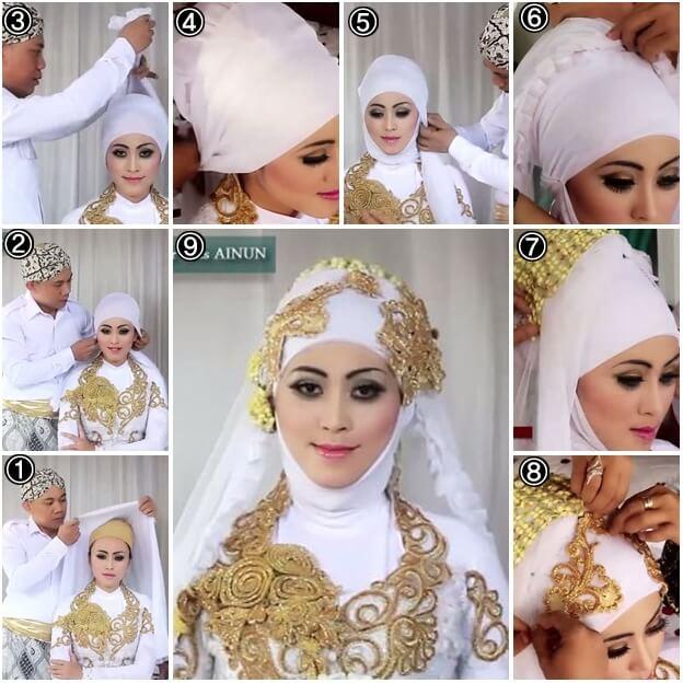model hijab kebaya pengantin warna putih