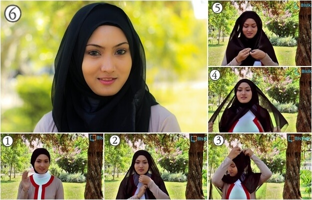 model hijab paris segi empat