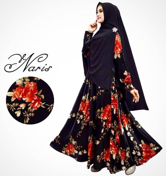 100 Model Baju Gamis Syar i Muslimah Terbaru 2018  29c84be108