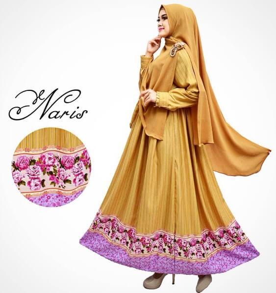 100 Model Baju Gamis Syar i Muslimah Terbaru 2018  e7849a3cae