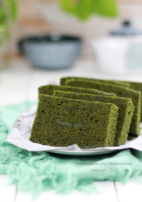 brownies kukus greentea yang empuk