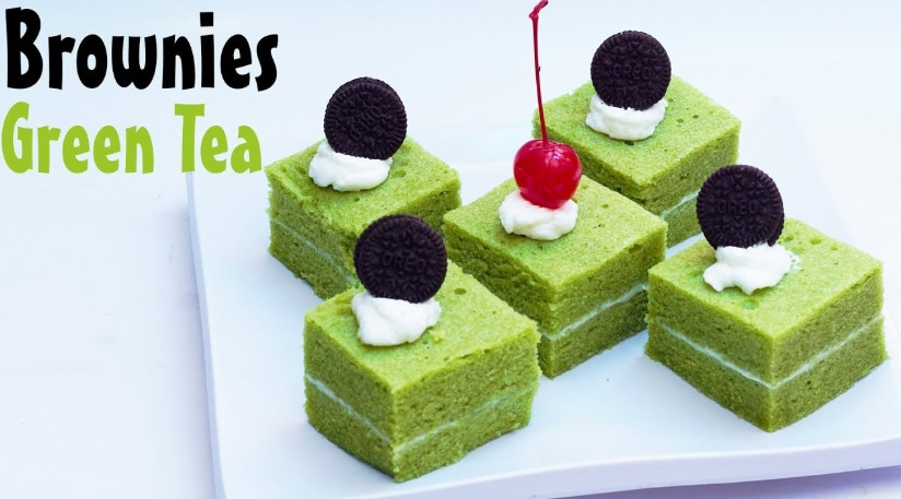 brownies kukus greentea yang lezat